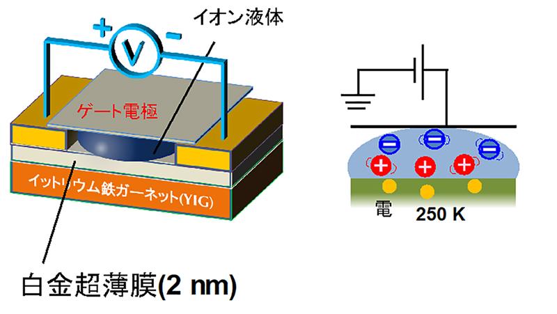 金属が半導体に化ける可能性 -超薄膜の白金がトランジスタ特性を発揮することを発見-