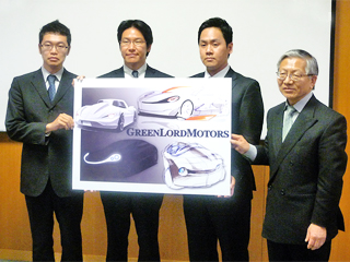 Main members of GLM and VBL Director Matsushige (rightmost)